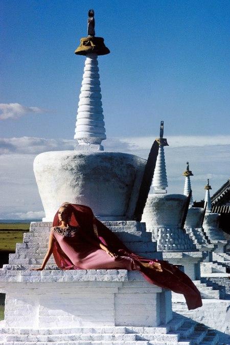 Outer-Mongolia-Pink-Cashmere-Erdeni-Dzuu-Lamasery-at-Karakorum
