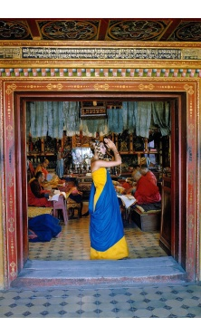 Samantha Jones Outer Mongolia Prayer at the Gandan Monastery in Ulan Bator, 1966