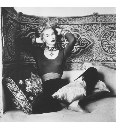 Vogue Fashion Photograph in Morocco (Lisa Fonssagrives-Penn on pillows) - 1951 default