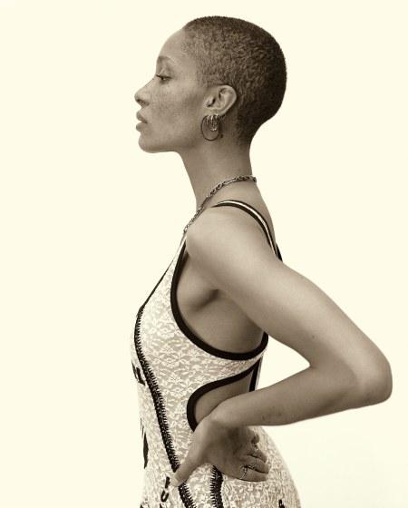 Adwoa Aboah wears a Stella McCartney 2017 © Mert & Marcus