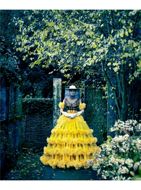 Alla Kostromichova In Yellow Alexander McQueen Gown, March 2013 © Erik Madigan Heck