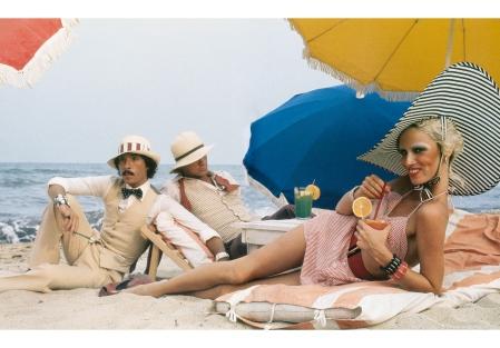 Antonio Lopez, Corey Tippin and Donna Jordan, Saint-Tropez, 1970 © Juan Ramos.
