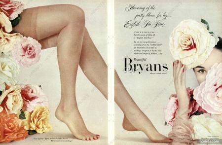 Brryans Hosiery 1953 stockings flowers Erwin Blumenfeld