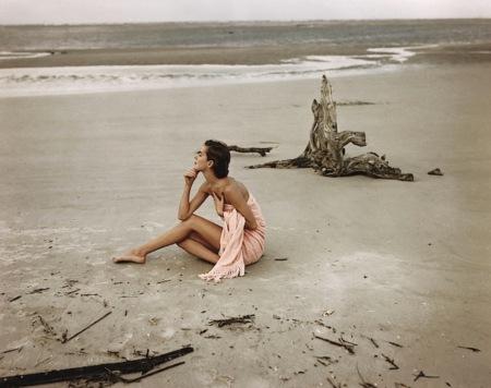 Carol McCallson on the beach, St. Augustine, Florida