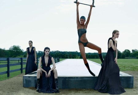 Catherine McNeil, Isabeli Fontana, and Anna Jagodzinska Vogue, September 2008 © Steven Klein