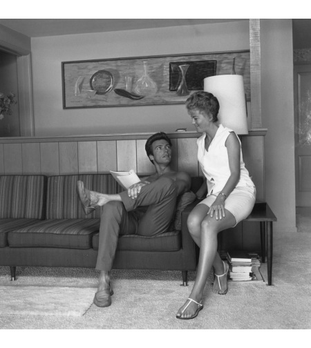 Clint Eastwood with his first wife Maggie Johnson at their home in the Hollywood Hills, Los Angeles, California, circa 1960 © Getty Archive