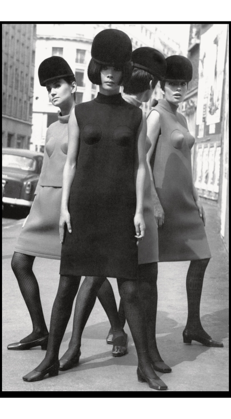 Cocktail Dresses With Canonical Breasts, 1966 © Yoshi Takata Pierre Cardin