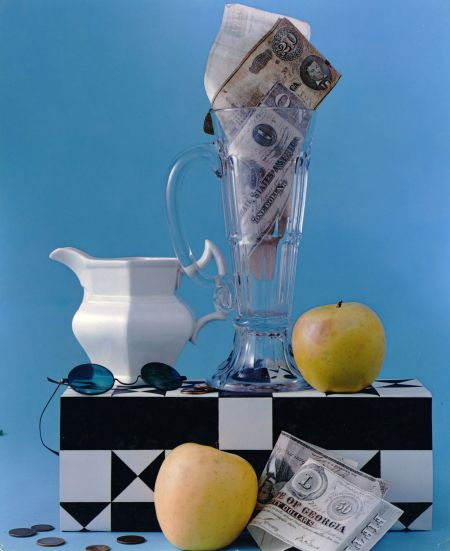 Composition with Apples, Pitcher and Confederate Money, NYC, 1953 Leslie Gill