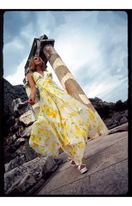 David Mist, Greece:Sydney, 1972. Taken on Mist_s 1972 trip to Greece for Cosmopolitan magazine. Cloths probably from David Jones. Model is Jeannette MacLeod