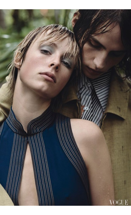 Edie Campbell and Carl Hjelm March 2015-1