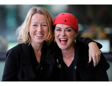 Elaine Constantine and Lisa Stansfield cuddle up at MediaCityUK
