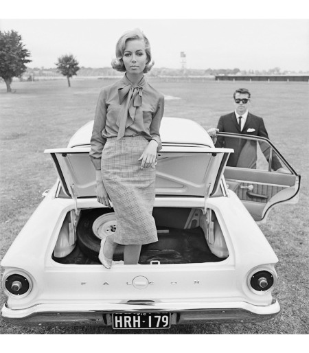 Fashion Illustration for Pelaco shirts and Ford falcon Models Jill Copner and Terence Donovan 1962 b