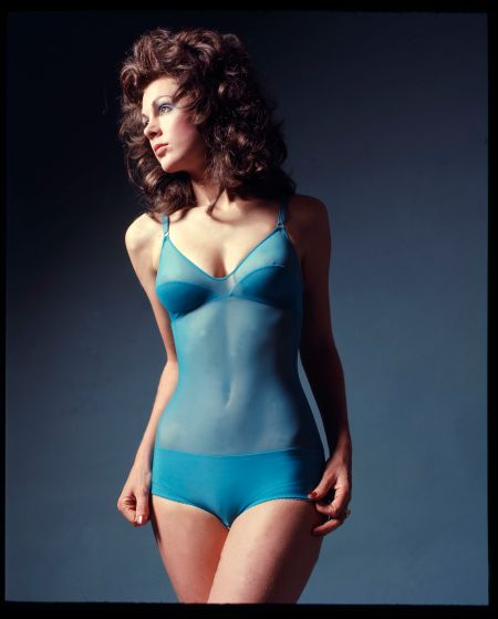 Hickory underwear, David Mist, Sydney, 1978-1989. Includes studio shot with model Lyndal Moor, hang gliding shots and movie set shots.