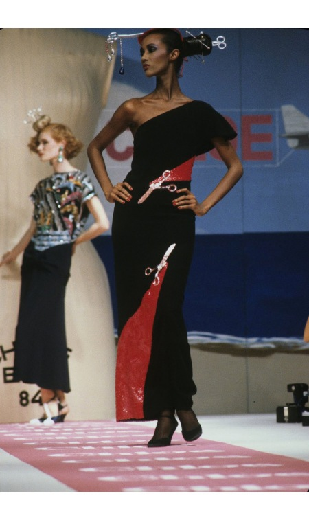 Iman Chloé, Spring:Summer 1984 For Vogue UK © Michel Arnaud1
