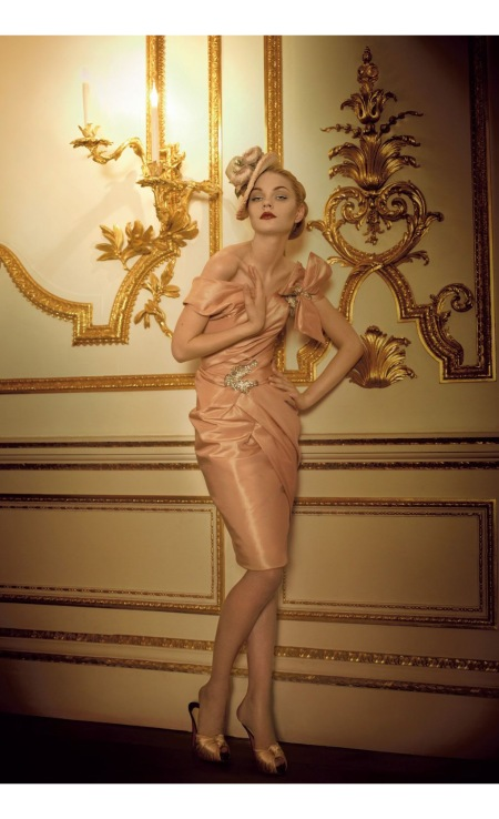Jessica Stam Golden Years Oct 2007 © Corinne Day b