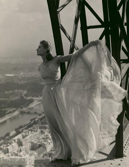 Lisa Fonssagrives On The Eiffel Tower, September 1939 © Erwin Blumenfeld