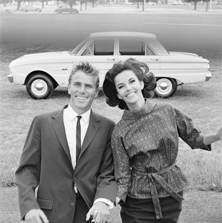 Margot McKendry Murray Rose Ford Falcon 1963