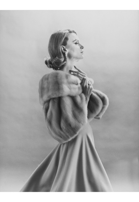Monique Chevalier in Fur Stole 1960's