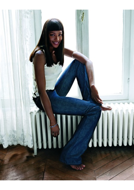 Naomi Campbell Vogue UK August 2002 cover © Corinne Day
