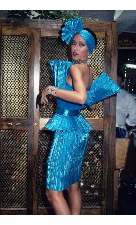 Pat Cleveland during Marc Bouwer Fashion Show NYC 1982 © Rose Hartman