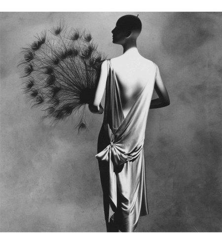 Vionnet Dress with Fan, New York, 1974 penn copia