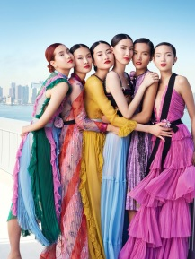 Yuan Bo Chao, Gia Tang, Jing Wen, Dylan Xue, Luping Wang and Xiao Wen Ju Vogue China November 2015 © Elaine Cnstantine