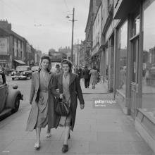 A Newcastle street scene. Original Publication Picture Post - 5138 - Down The Tyne - pub. 1950 © Bert Hardy