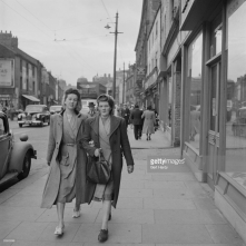 A Newcastle street scene. Original Publication Picture Post - 5138 - Down The Tyne - pub. 1950 © Bert Hardy