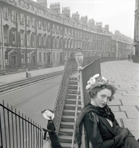 A Spring Hat and the City of Bath series, British Vogue, February 1948 © Norman Parkinson
