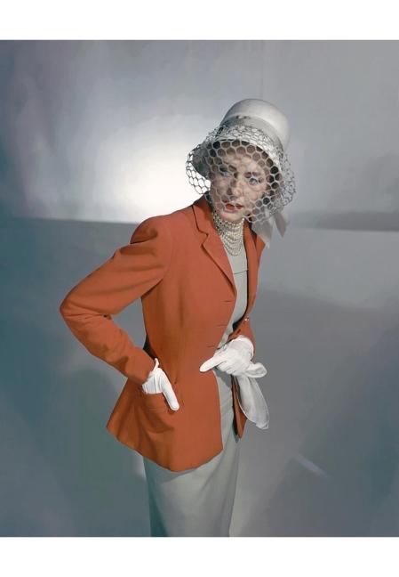 Barbara Tollgren Wearing A Red Jacket 1947