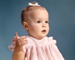 1960s BABY GIRL WEARING...