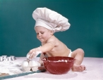1960s BABY WEARING CHEFS...