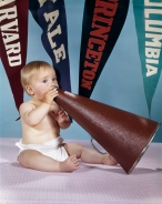 1960s BABY SHOUTING INTO...