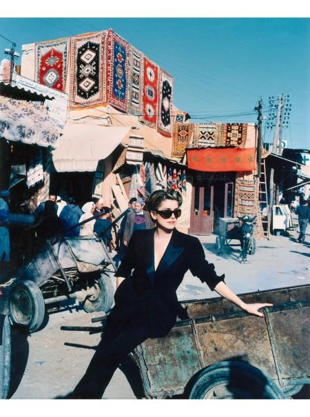 Catherine Deneuve wearing Yves Saint Laurent Marrakech ELLE feb 1992 © Andre Rau