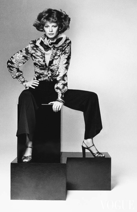 Charly Stember wearing a floral shirt and pleated trousers aug 1974