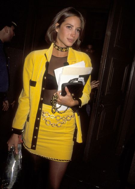 Christy Turlington in Versace AT & T Presents City Kids Foundation Benefit 1990 © Ron Galella