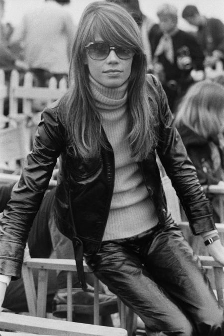 Françoise Hardy, at the Isle of Wight Music Festival, August 1969. (Photo by Daily Express:Hulton Archive:Getty Images)