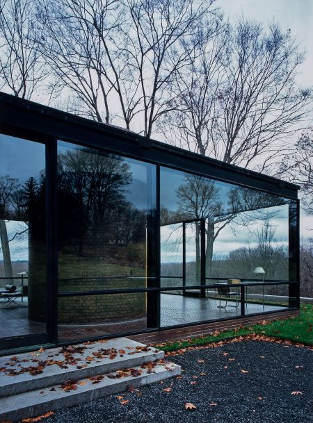 Glass House, New Canaan Untitled, 2006 © Julius Shulman + Juergen Nogai on verso