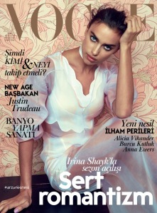 Irina Shayk vogue turkey feb 2016 © Norman Jean Roy cover