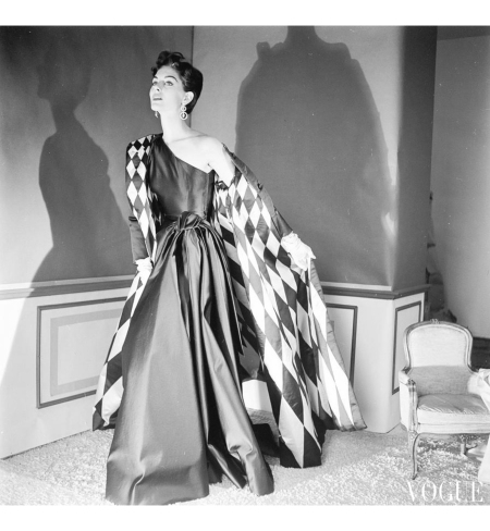 Model Wearing A Jane Derby Coat And Dress 1953
