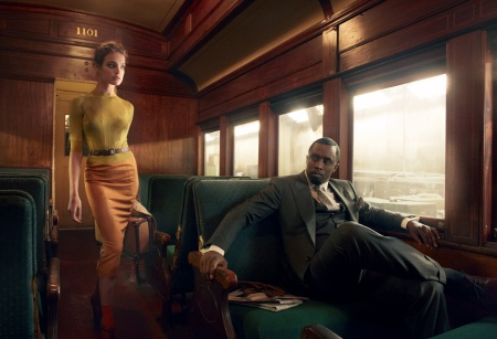 Natalia Vodianova Sean Combs Diddy Brief Encounter US Vogue February 2010 © Annie Leibovitz