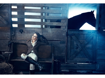 Nicole Kidman at Hidden Trace Farm, Franklin, Tennessee for Vanity Fair, Hollywood Issue, March 2011. © Norman Jean Roy