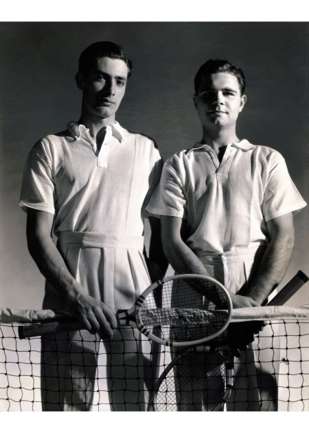 These tennis ensembles from a 1931 issue of Vanity Fair, shown on American tennis star Frank Shields and fellow player John Hope Doeg, were cotton © Edward Steichen