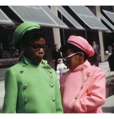 USA, New York 1969, two girls