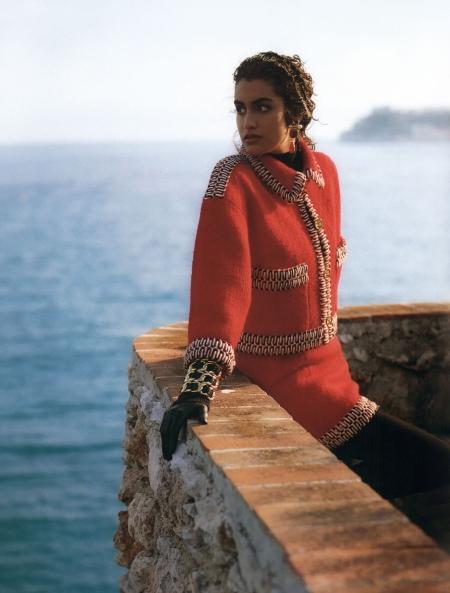 Yasmeen Ghauri © Karl Lagerfeld F:W 1990:91 Chanel 3e
