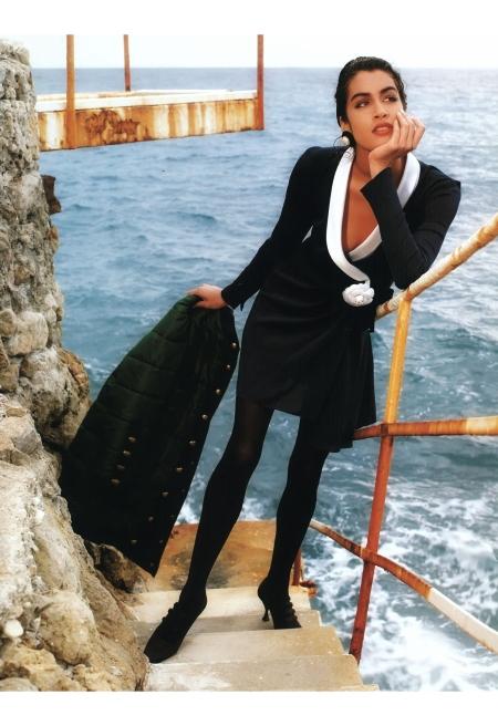 Yasmeen Ghauri © Karl Lagerfeld F:W 1990:91 Chanel b2