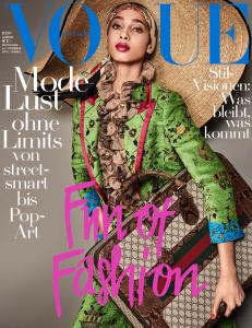 Yasmin Wijnaldum Vogue Germany August 2017 © Giampaolo Sgura c