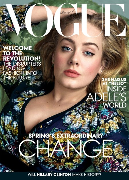 Adele Vogue March 2016 © Annie Leibovitz cover