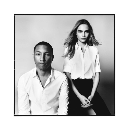 "Cara Delevingne & Pharrell Williams ""Born Lucky"" – UK Vogue September 2013 © David Bailey"