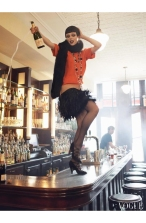 """Coco Rocha """"Paris, je t_aime"""" Vogue US September 2007 © Steven Meisel b"""